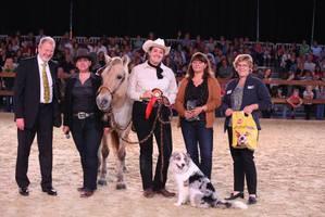 Siegerehrung auf der Messe Hund und Pferd in Dortmund
